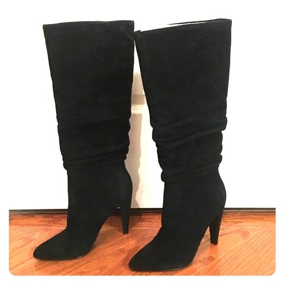 f3400daaab3 New Steve Madden black suede high heeled boots NWT